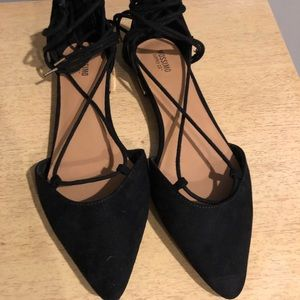 Mossimo Lace Up Black Flats